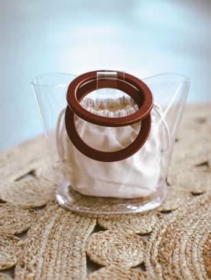 Goodnight Macaroon 'Kristy' Transparent Round Handle Bucket Bag