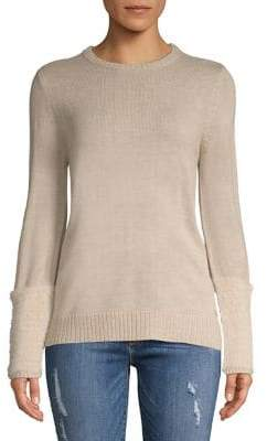 Calvin Klein Faux Fur-Trimmed Sweater