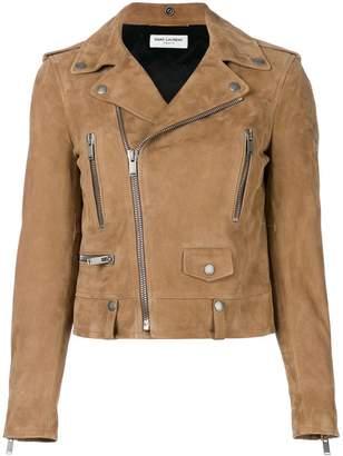 Saint Laurent suede biker jacket