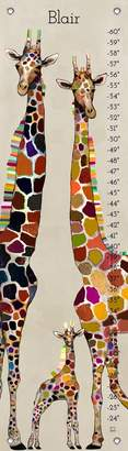 Oopsy Daisy Fine Art For Kids Giraffe Family CanvasPersonalized Growth Chart