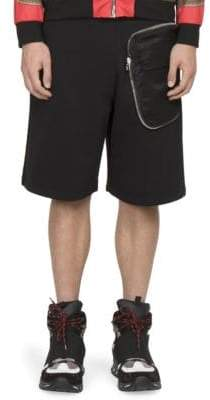 Givenchy Solid Cotton Shorts