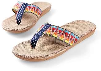Aerusi Light Flax Straw Flip Flop Sandals Flip Flop Sandals