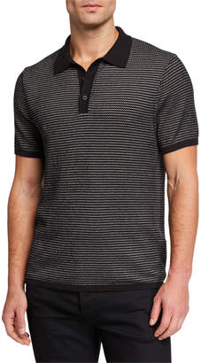 Rag & Bone Men's Finn Striped-Knit Polo Shirt