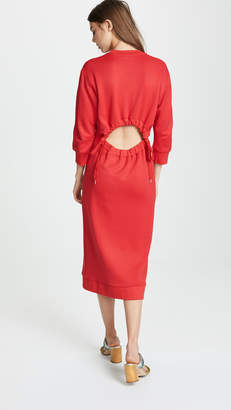 Tibi Open Back Sweatshirt Dress