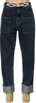 J.W.Anderson Denim Jeans W/ Toggle Details