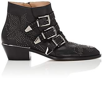 Chloé Women's Susanna Leather Ankle Boots - Black