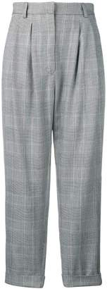 MM6 MAISON MARGIELA cropped plaid trousers