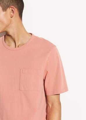 Garment Dye Single Pocket Short Sleeve Crew