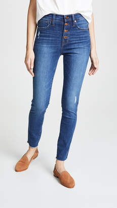 """Madewell 10"""" High Rise Button Front Jeans"""