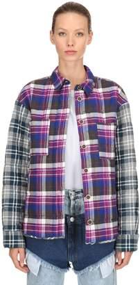 Natasha Zinko Oversized Plaid Cotton Padded Jacket