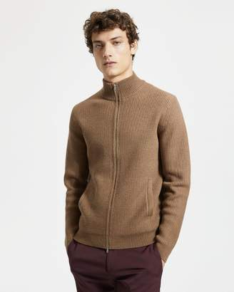 Theory Merino Wool Zip Sweater