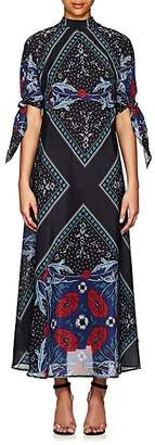 Warm Women's Nomad Floral Cotton-Silk Maxi Dress - Navy