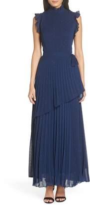 Chelsea28 Wrap Waist Pleated Maxi Dress