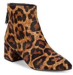 Karl Lagerfeld Paris Maude Leopard Print Calf Hair Boots