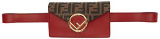 Fendi Red and Brown Forever Belt Bag