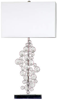All The Rages Elegant Designs Prismatic Crystal Sequin and Chrome Table Lamp