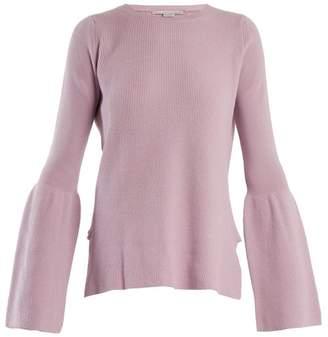 Stella McCartney Flare Sleeved Wool Sweater - Womens - Light Purple