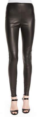 Ralph Lauren Eleanora Leather Leggings, Black