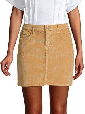 Current/Elliott Women's Corduroy Stretch Mini Skirt - Barley - Size 29 (6-8)