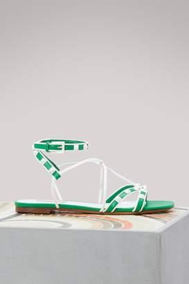 Valentino Gavarani Free Rockstud flat sandals