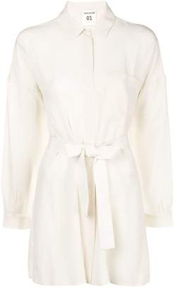 Semi-Couture Semicouture belted shirt