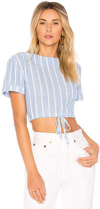 by the way. Kristian Drawstring Crop Top