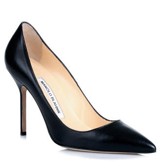 Manolo Blahnik BB105 black leather pumps