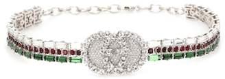 Gucci Crystal logo choker