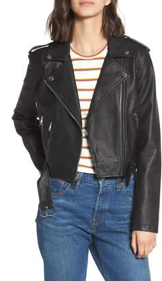 Levi's Faux Leather Fashion Belted Moto Jacket