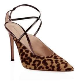 Gianvito Rossi Women's Leopard Slingback Pumps - Leopard Print - Size 35 (5)