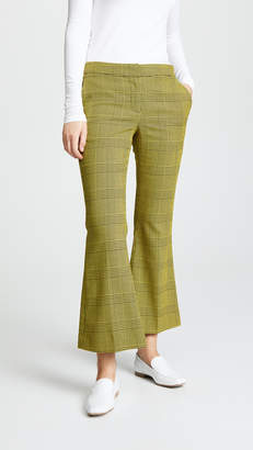 Robert Rodriguez Flare Plaid Trousers