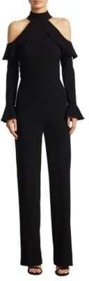 ML Monique Lhuillier Women's Cold-Shoulder Jumpsuit - Black - Size 14
