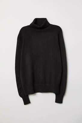 H&M Fine-knit Turtleneck Sweater - Black