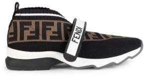 Fendi Women's Rockoko Knit Sneakers - Size 35 (5)