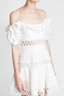 Zimmermann Melody Off-Shoulder Cotton-Linen Dress