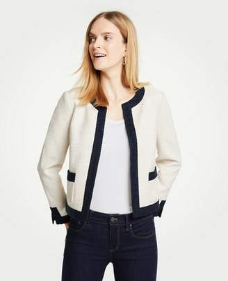 Ann Taylor Textured Open Jacket
