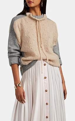 J.W.Anderson Women's Multi-Knit Merino Wool-Blend Sweater - Beige, Tan