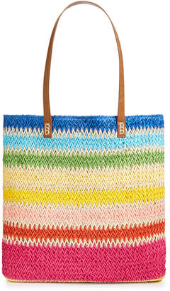 "Martha Stewart Collection Straw 17"" x 14.8"" Beach Tote"