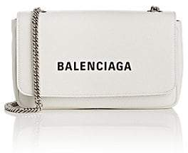 Balenciaga Women's Everyday Large Leather Chain Wallet - Blanc