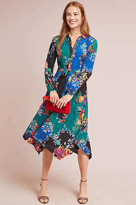 Maeve Floral Patchwork Shirtdress