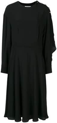 MSGM long-sleeve flared midi dress