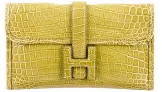Hermes Mini Niloticus Crocodile Jige Clutch