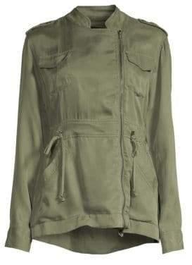 Rails Women's Miles Asymmetric Zip Utilitarian Jacket - Sage - Size Small
