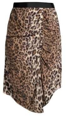 Joie Women's Ornica Leopard Handkerchief Skirt - Light Taupe - Size 6
