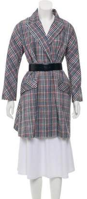 Dice Kayek Plaid Trench Coat w/ Tags