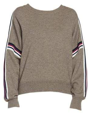 Etoile Isabel Marant Women's Kaori Colorblock Stripe Knit Sweater - Grey - Size 34 (2)
