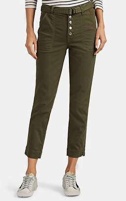 J Brand Women's Kyrah Cotton-Blend Straight Belted Trousers - Green