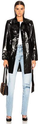 Miss Sixty Palmer Girls X Palmer Girls x Patent Leather Menswear Short Trench Coat in Black   FWRD