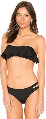 KENDALL + KYLIE Ruffle Bandeau Bikini Top