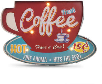 Bey-Berk Bey Berk Coffee Metal Sign w/ LED Lights